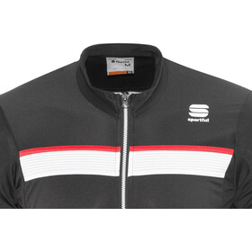 Sportful Pista Long Sleeve Jersey Men black/white-red